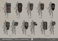 ArtStation - The Technomancer - Weapons Designs, Alexandre Chaudret Fantasy Armor, Fantasy Weapons, Medieval Fantasy, Armadura Medieval, Character Concept, Character Art, Character Design, Armor Concept, Weapon Concept Art