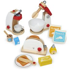 Grades PreK and up. Perfect for any play kitchen, these appliances will add to any dramatic play experience. Includes My Coffee Machine Pop-Up Toaster and Mix and Bake Blender Dark Brown Cabinets, Yellow Cabinets, Black Kitchen Cabinets, Dark Wood Kitchens, Black Kitchens, Cool Kitchens, Kidkraft Kitchen, Toy Kitchen, Dark Brown Furniture