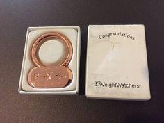 Weight Watchers Copper Keychain Charm Holder Key Ring  | eBay