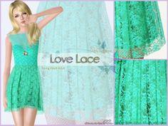 Love Lace - Dress at Sim-pli Caz - Sims 3 Finds