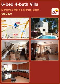 6-bed 4-bath Villa in El Palmar, Murcia, Murcia, Spain ►€495,000 #PropertyForSaleInSpain