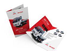 Impresso criado para a equipe de vendas da Bianco Caminhões que mostra os benefícios do produto de forma objetiva.