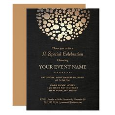elegant gold circle sphere black linen look formal card black tie invitation elegant invitations