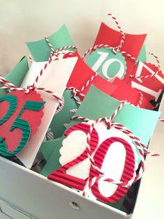 Pillow box Advent Calendar