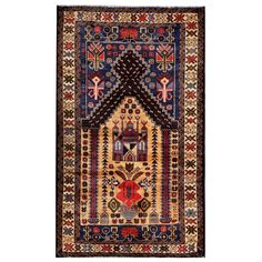 Herat Oriental Semi-antique Afghan Hand-knotted Tribal Balouchi / Navy Rug