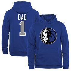 Dallas Mavericks #1 Dad Pullover Hoodie - Royal