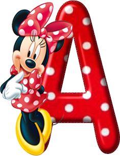 Alfabeto - Minnie Vermelha com Bolinhas 4 - PNG.