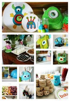 Lots of stuff here--simple and very cute--Monsters Inc Baby Shower