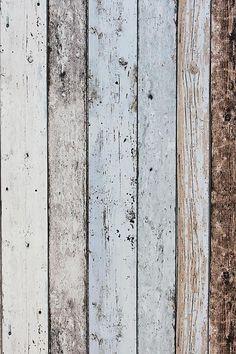 Steigerhout Vliesbehang Blauw/Bruin bij Behangwebshop, bekleding grote kast en evt. andere vlakken.