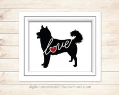 INSTANT DOWNLOAD: Husky Love Silhouette by TraciWithaniDesigns