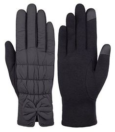 Men/'s Finger Gloves Thermo Knitted Very Warm Heat Keeper BLACK S XL