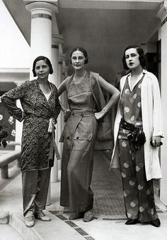 Schiaparelli fashions, 1929 (by thefoxling, via Flickr)