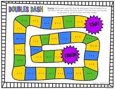 Doubles Facts Freebie by Simply Creative Teaching Math Doubles, Doubles Facts, Guided Reading Activities, Fluency Activities, Creative Teaching, Teaching Math, Maths, Mental Math Strategies, Teacher Resources