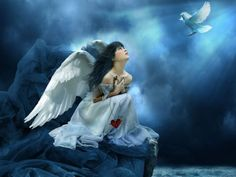 """""""Send me an Angel"""" Scorpions Loved One In Heaven, Meditation, Mountain Music, Angel Images, Angels In Heaven, Celestial, Fantasy Girl, Photo Editor, Mom And Dad"""