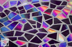 Upcycled mosaic made from old DVDs!
