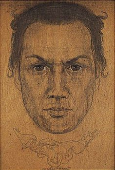Kenneth Grant by Austin Osman Spare (English artist/occultist Kenneth Grant, Austin Osman Spare, Automatic Drawing, Aleister Crowley, Occult Art, English Artists, Magick, Art Reference, Art Drawings