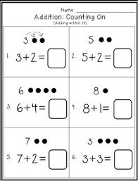 Addition (counting on within 10) by First Things First | TpT Addition Strategies, Addition And Subtraction Worksheets, Teacher Newsletter, Teacher Pay Teachers, Counting, Writing, Education, Onderwijs, Being A Writer