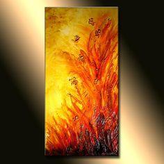 Bildergebnis für orange abstract paintings