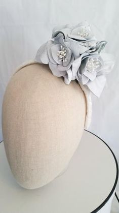 A beautifula handcrafted leather flower and leaves headband headpiece ready for you to be in the moment with style. Shop now~ Fascinator, Headpiece, Leather Flowers, White Leather, Leaves, Creative, Shop, Color, Style