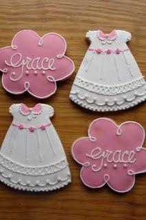 Sweet baby girl celebration cookies