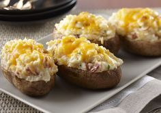 The addition of AE Dip and cottage cheese is a sure way to make this Twice Baked Potato recipe your family's favorite.