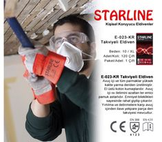 Leather working glove by Starline in red color. Protective Gloves, Leather Working, Red Color