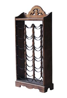 Bulk Wholesale 18 Wine Bottle Rack in Mango Wood & Iron - Counter-Top / Bar Accessories for Wine Storage