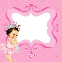 Girl Shower, Baby Shower, Baby Diva, Daddys Little Princess, Baby Queen, Art N Craft, Baby Scrapbook, Banner Template, Baby Design
