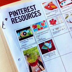 FREE PLANNER DOWNLOAD: My favorite page is the Pinterest resource page. There are so many great education ideas on Pinterest, but then it's easy to forget about them when it comes time to study that topic. Very complete, and oh so useful!