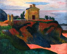 """The House at Pan-Du""  --  1890  --  Paul Gauguin  --  French  --  Oil on canvas  --  Private Collection"