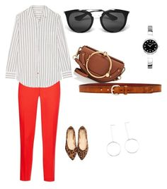 """The red."" by ekaterina-beschastnykh on Polyvore featuring мода, Pinko, Equipment, Chloé, Liebeskind, Seiko и Prada"