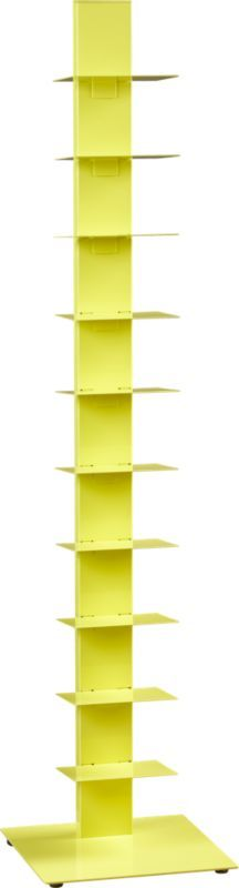 Design #2 Option Pair with Red Ikea Wing Chair and Black and Gray Stripe Rug - Cb2.  array yellow bookcase  | CB2
