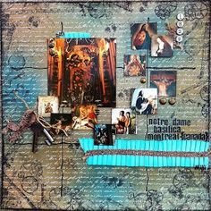 Canva Corp, Tattered Angels and 7 Gypsies...trifecta for a scrapbook layout