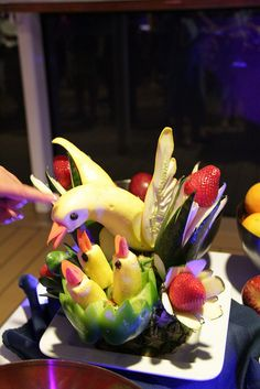 The Amazing Fruit sculptures by Shopping Diva, via Flickr