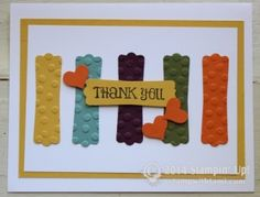 SU in colors - Thank You card by Linda Bauwin