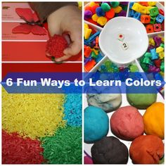 6 Simple & Fun Ways to Learn Colors Through Play - From Little Bins For Little Hands)
