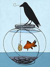 "Gone Fishin' by Kamilla White (Giclée Print) (16"" x 12"")"