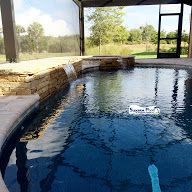 Superior Pools Rock waterfall and spa
