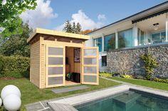 Modernes Gerätehaus für den kleineren Garten!