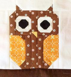 Cute Owl Quilt Block | Craftsy
