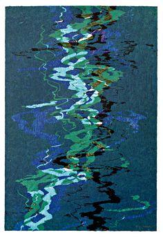 Bernd Zimmer, Alles fließt, 2012, woodcut, measures: 61,5 x 41  cm, edition: 14