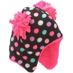 Frostline Essentials - Baby Toddler Girl Double Pom Pom Fleece Peruvian Hat  - Walmart.com 6d058dd7108e