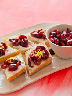 Sweet Cherry, Lemon and Ricotta Toast: Dessert toast? Yes, please! We can't wait to try out these summery beauties. (via Spoon Fork Bacon)