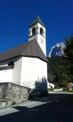 Peaio di Cadore  Dolomiti la chiesa e l' Antelao by Gemma B.