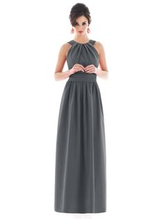 Cheap Pewter A-Line Jewel and Sleeveless Lace Up Floor Length Prom Dresses With Twist Draped online sale,fast shipping