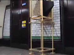 weather station - sound sculpture at the London Underground