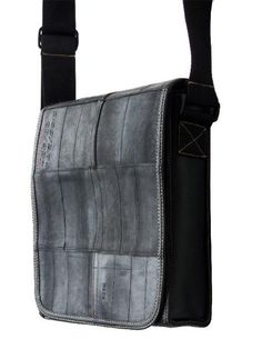 Large Recycled Tyre Tubes Handmade Overshoulder by EcoDesignerBags