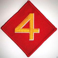 UNITED STATES MARINES 4th DIVISION Military / Veteran / Hero Patch PM1289 HREE