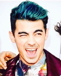 Going to let Tyler experiment with a little temporary blue hair for fun.
