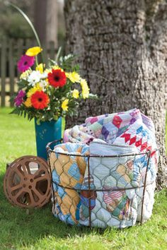 out door movie - Have plenty of quilts, pillows, and chairs ready within reach for guests to grab and settle in.